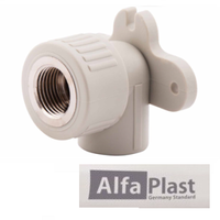 Уголок PPR 20*1/2 ВР настенный ALFA PLAST